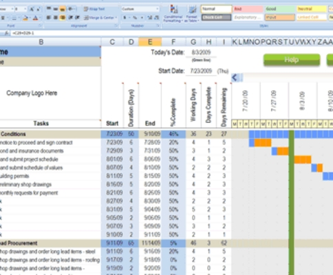 Ablaufplan download excel
