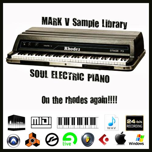 Fender rhodes Piano mark v stage 73 vintage sound wav sample